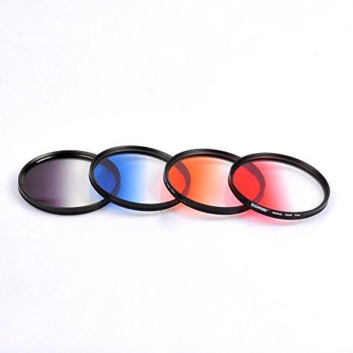 zomei-405-49-52-58-77-82mm-ultra-slim-graduated-grey-blue-orange-red-filter-set-55mm