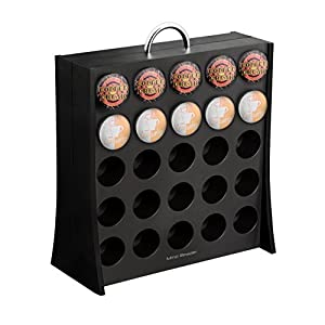 "Mind Reader ""The Wall"" 50 Capacity K-Cup Coffee Pod Display Rack Holder, Black"