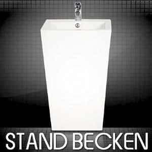 Design Stand Waschbecken Waschtisch Säule Keramik