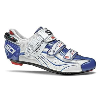 footwear men 39 s sidi sidi 2012 genius 6 6 carbon lite mega men 39 s road cycling shoes white blue. Black Bedroom Furniture Sets. Home Design Ideas