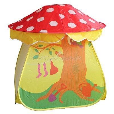 Children Kids Boys Girls Mushroom Tent Play House Indoor Outdoor Garden Playroom
