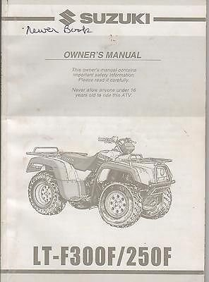 2001 Suzuki Atv 4 Wheeler Lt-F300F/250F P/N 99011-19B72-03A Owners Manual(566) front-805970