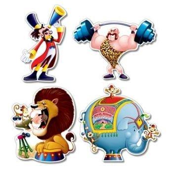 Circus Cutouts(4/Pkg)