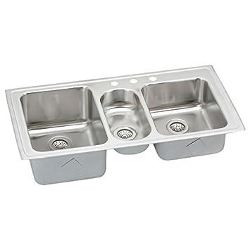 Elkay LGR43223 Harmony Lustertone Sink, Stainless Steel
