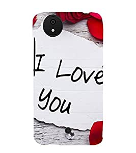 I Love You 3D Hard Polycarbonate Designer Back Case Cover for Micromax Canvas Android A1 AQ4501 :: Micromax Canvas Android A1