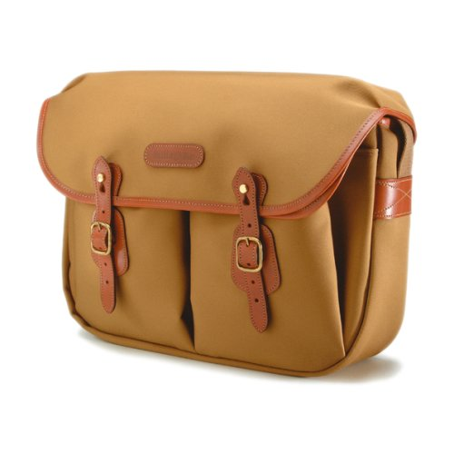 Billingham Hadley Large Canvas Camera Bag With Tan Leather Trim - Khaki