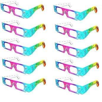 Fireworks Glasses - 10 Pair Rainbow Design - 1