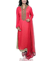 Amitas Boutique Partywear dress Red & fawn