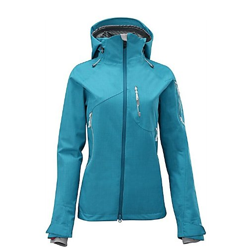 Salomon Women's Sideways 3L Jacket, Bay Blue, Medium