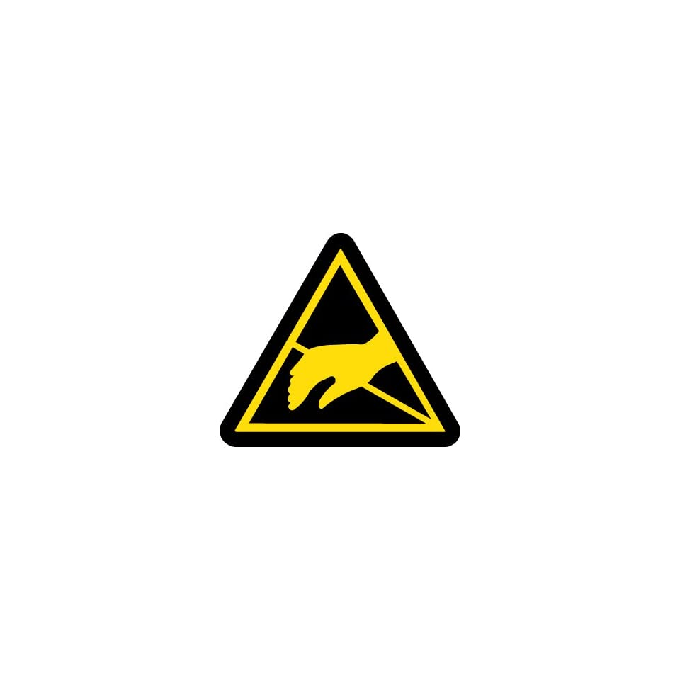 Label, Graphic For Static Sensitive Hazard, 4In Dia, Adhesive Vinyl