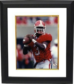 DJ Shockley Autographed/Hand Signed Georgia Bulldogs 8x10 Photo Custom Framed