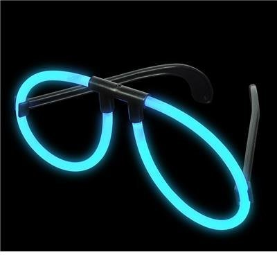Blue Light-Up Glow Stick Glasses (Package of 12) - 1