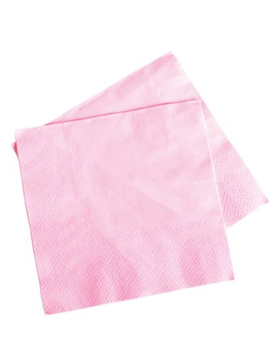 Lot Of 50 Light Pink Beverage Bar Baby Shower Party Napkins - 5""