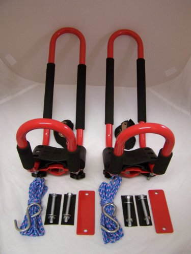 PK-KR 1 Pair of RED Universal Kayak J Racks Car