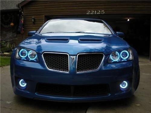 2008 2009 Pontiac G8 White Angel Eye Fog Lamps Halo Driving Lights Kit (Pontiac G8 Lights compare prices)