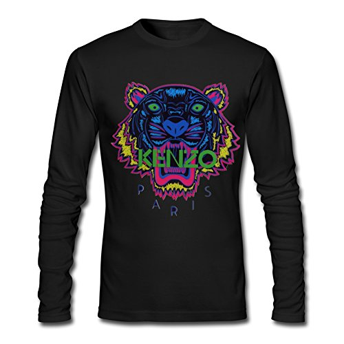 KENZO Tiger Head For 2016 Mens Printed Long Sleeve tops t shirts