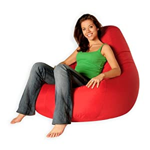 Designer Recliner Gaming Bean Bag RED (Water Resistant)