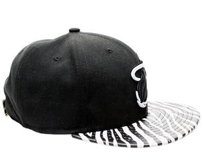 New Era 9Fifty Miami Heat Ostrich Vize Zebra Strapback Hat 950-ZEBRAMIAHEAHC by New Era