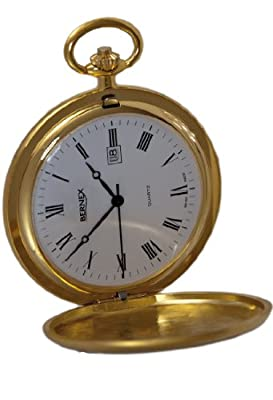 Bernex Pocket Watch GB21120 Gold Plated Full Hunter