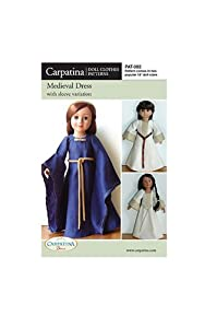 "Pattern for Medieval Dress - fits 18"" American Girl Dolls"