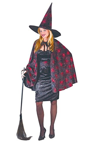 Funworld Womens Sexy Glitter Chip Witch Spider Web Theme Party Halloween Costume