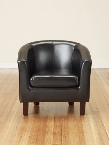 Bonded-Leather-Tub-Chair-Armchair-for-Dining-Living-Room-Office-Reception