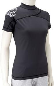 Nike Womens Short Sleeve Water Top Tee Shirt Black 242971-010 8/10