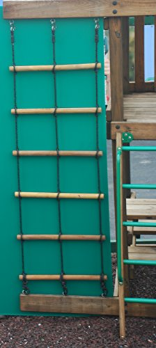 Swing Set Playset Wood 2 Ropre Climbing Ladder For Backyard Jungle Gym Or Playground Equipment front-49655