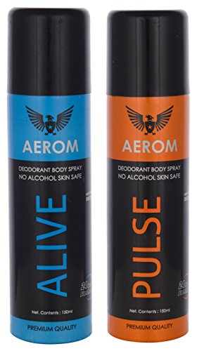 Aerom Alive And Pulse Deodorant Body Spray, 300 Ml (Pack Of 2)