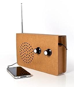 SUCK UK Cardboard Radio