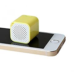 Spider Designs ICE CUBE Bluetooth Speaker, Shutter Button, Hands Free and Anti Theft Device (Yellow)