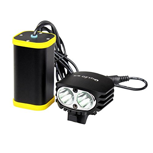 OxyLED BL15 3-Mode Waterproof Bright Rechargeable 1500 Lumens Cree LED Headlight/ Headlamp/ Bicycle Light/ Bike Light Set with 8800mAh Battery Pack and Charger, for Outdoor Sports / Camping / Hiking (Bicycle Battery compare prices)