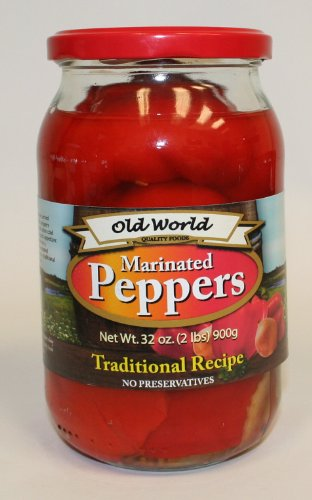 Marinated Red Peppers 3 - Jars 32oz Each