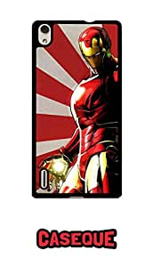 Caseque Marv Iron Man Back Shell Case Cover For Huawei P7