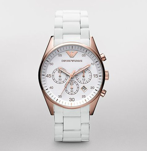 Emporio Armani Men's AR5919 Sport White Dial Watch