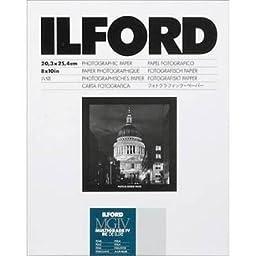 Ilford 1170784 Multigrade IV RC DLX 8X10 25 + 10 Extra Sheets Pearl