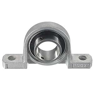 35mm Bore Diameter Zinc Alloy Pillow Block Mounted Ball Bearing KP007 Silver