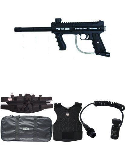 Tippmann 98 Platinum Edition Sergeant Paintball Gun Package - Black