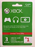 Xbox Live 3 Month Gold Membership + 1 Bonus Month