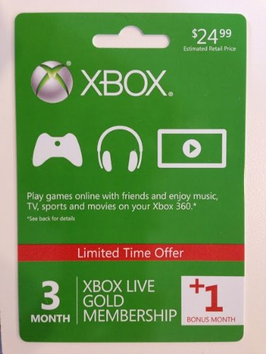 how to buy xbox live 3 months online