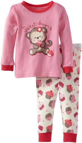 Vitamins Baby Baby-Girls Infant Cupcake Print Two Piece Pajama Set, Pink, 18 Months front-799867