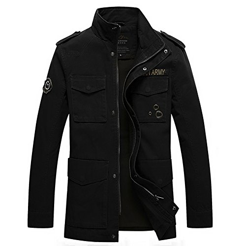 H.T.Niao Jacket8928C2 Men 's Fashionable Stand - up Jackets(Black,Size M) (Eagles Peak 6 Person Tent compare prices)