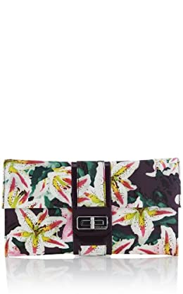 Tropical Lily Print Clutch
