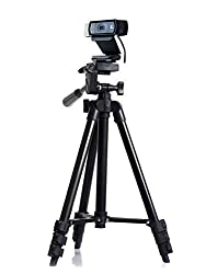 Professional Camera Tripod Mount Holder Stand for Logitech Webcam C930 C920 C615 C310-Black