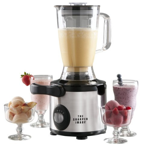 The Sharper Image 600-Watt/2 Speed and Pulse Stainless Steel Juicer-Blender Combo (Juicer And Blender Combo compare prices)