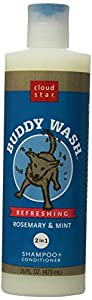 Cloud Star Buddy Wash 2 in 1 Shampoo and Conditioner, Rosemary & Mint, 16-Ounce Bottles (Pack of 2)