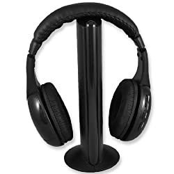 Gino Wireless Headphone FM Hi-Fi Earphone for TV Stereo MP3 PC CD DVD Headset