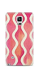 Casenation Curve Pattern Samsung Galaxy Note 4 Glossy Case