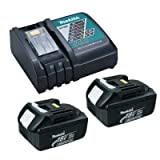 Makita OEM DC18RC Charger & 2 BL1830 3.0 Ah Batteries (Color: Black)