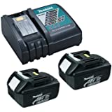 Makita OEM  DC18RC Charger & 2 BL1830 3.0 Ah Batteries with 1 plastic cover